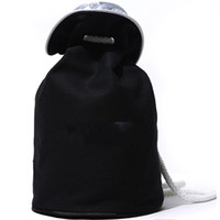 Wholesale waterproofing clothing wash online - Fashion Drawstring Bucket Bag Thick Travel Classic Logo Cosmetic Makeup Storage Case Women Waterproof Wash Rope Sack sl2 Ww