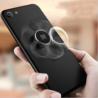 Wholesale magnetic gyro - New Gyro ring bracket magnetic car phone bracket 360 ° rotation drop lazy bracket