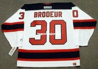 brodeur hokeyi mayo toptan satış-Toptan Erkek MARTIN BRODEUR New Jersey Devils 2003 CCM Ev Ucuz Retro Hokeyi Jersey