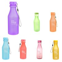 Wholesale Electric Bicycle Wholesale - 550ml Leak-Proof Sports Water Bottle Large Capacity Plastic Bottle Bicycle Camping Sports Drinkware + Cover Lip BPA free