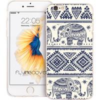 ingrosso copertina tribale iphone case-Custodia in silicone TPU silicone tribale Coque Aztec Elephant per iPhone X 7 8 Plus 5S 5 SE 6 6S Plus 5C 4S 4 iPod Touch 6 5 Custodie.