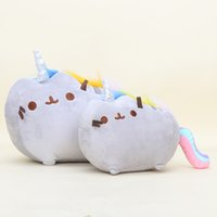 Wholesale 15 cm cartoon Pusheen Cat Plush Toys Cookie Rainbow unicorn Doughnut Rainbow Angle Fat Cat Doll Toys Stuffed Animals Toys gift