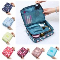 Wholesale waterproofing clothing wash for sale - Flamingo Women Make Up Bag Styles Floral Printed Zipper Waterproof Cosmetic Bag Travel Makeup Case Storage Wash Bags OOA5560
