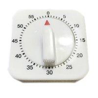minutero al por mayor-Temporizador de cocina Cuenta regresiva Alarma recordatorio Hot 60 Minutes Plastic White Square Timer mecánico para cocina