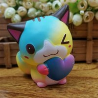 Wholesale silicone love toys for sale - Group buy Squishy Simulation Dazzle Color Love Cat Kawaii Scented Soft Slow Rising Squishies Bread Toy Squeeze Novelty Resin Crafts ym Y