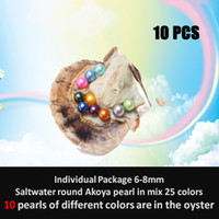 Wholesale South Sea Pearls White - Wholesale 2018 South Sea Pearl oyster with AAA grade 6-7mm round 25 different colors wish pearl meaning funny birthday gift