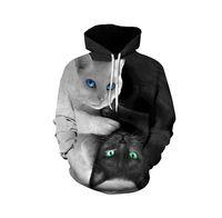 69e85c9931f9 Cute YinYang Cat 3D Hoodies Galaxy Cats Prints Hooded Sweatshirt Cool Wolf Lions  Tiger Hoodie Pullovers