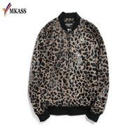 шорты для леопардового принта для мужчин оптовых-Hot Leopard Printing Jacket Mens  Baroque Bomber Jackets Mens Slim Fit Mens Clothing Club Outfits Men Short Jacket M-5XL