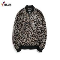ingrosso i vestiti più caldi del randello-Hot Leopard Printing Jacket Mens lusso Bombardiere Bomber uomo Mens Slim Fit Abbigliamento Club Abiti Uomo Giacca corta M-5XL