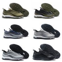 Wholesale green river rock - 2018 New 97 Ultra UL 17 og Cargo Khaki Green River Rock Mens Running Shoes '17 97s Navy White Hal Black Olive Man Trainers Casual Sneakers