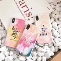 Wholesale Graffiti Colorful - Colorful Graffiti Phone Case For iphone X Case For iphone 6S 6 7 8 Plus Fashion Candy Color Back Cover Letter Print Cases