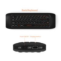 Wholesale computer remote keyboard - 2.4G Fly Air Mouse Raspberry pi 3 Wireless Keyboard Remote control Learning keyboard Combo for Android TV Box Computer teclado