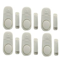 Wholesale magnetic window alarms wholesale - 6 x Mini Security alarm Systems Wireless Home House Window Door Entry Burglar Security Alarm System Magnetic Sensor