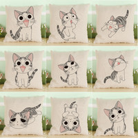 Wholesale cheese cover for sale - Cartoon Cheese Kitte Series Pillow Covers Styles Company Promotional Advertising Gift Can Be Printed Logo Free Customized Any Pattern R45