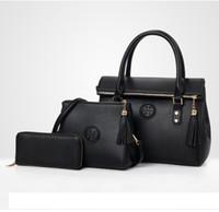 Wholesale ladies piece handbag online - Best selling explosions luxury handbags ladies shoulder bag designer handbag fashion piece combination package free shopping