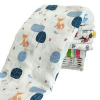 mantas de bebé caliente invierno al por mayor-120x120cm Baby Boy Girl Blankets Recién nacido Cartoon Baby Carrier Swaddle Wrap Blanket Cotton Winter Warm Kids Infant Baby Towel