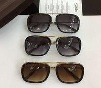 semelles brunes achat en gros de-Lunettes de soleil carrées Johnson TF453 Havana Brown Sonnenbrille lunettes de soleil Designer 2018 lunettes de soleil avec boîte