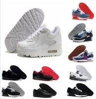 on sale 6cefd d7d79 2018 Cheap Men Sneakers Shoes Classic 90 Men Running Shoes Trasporto di  goccia all ingrosso Sport Trainer Cuscino d aria Scarpe sportive