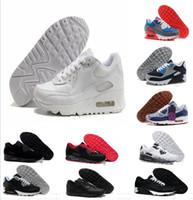 super popular 6b0ba 42631 2018 Pas Cher Hommes Sneakers Chaussures Classique 90 Hommes Chaussures De  Course En Gros Drop Shipping Sports Entraîneur Air Coussin Chaussures De  Sport
