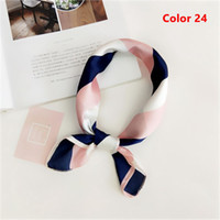 пернатый шарф оптовых-1PC NEW Retro Summer Hair Accessories Women Square Silk Feel Satin Skinny Scarf Fashion Hair Claw Feather Sequin Headband
