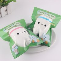 Wholesale retail novelty toys for sale - Group buy Novelty Jumbo Squishy Tooth Slow Rising Kawaii Soft Squishies Squeeze Cute Cell Phone Strap Toys Kids Baby Gift