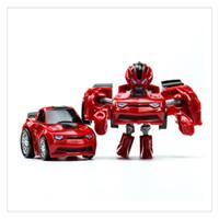 ingrosso giocattolo di robot di qualità-Pocket Transformation Robot Car Toy Carino Mini Deformation Car Model Giocattoli presenti per i ragazzi Commercio all'ingrosso di qualità superiore