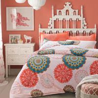 Wholesale butterfly comforter queen set - 100% Cotton Bedding sets Bohemian style butterfly bedclothes orange 4pcs bed Flat linen sheet duvet cover set pillowcase cover