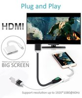 Wholesale For Ipad Iphone to HDMI Adapter For Lightn to Digital AV HDMI K USB Cable Connector Up To P HD For Iphone X S Ipad Air Ipod