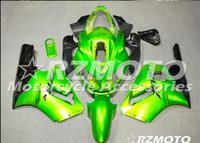 Wholesale Three free beautiful gift new high quality ABS fairing plates for Kawasaki Ninja ZX R Black Green O2