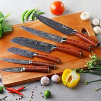 neue kochgeräte großhandel-Küchenmesser Japanischen 7CR17 440C High Carbon Edelstahl Messer Werkzeuge Neue Ankunft Micarta Griff Obst Gemüse Fleisch Kochen Werkzeuge