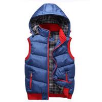 chaqueta térmica delgada al por mayor-Más el tamaño 5XL nuevo chaleco de invierno de los hombres chaquetas sin mangas de los hombres ocasionales Slim Fit chalecos de otoño chaleco de los hombres