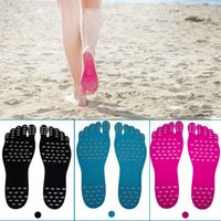 Wholesale wholesale designer sandals - Nakefit Soles Invisible Beach Shoes Foot Pads Prezzo Designer Shoes Socks Men Running Shoes Women Sandals Sneakers for Swimming Walking