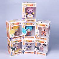 Wholesale Goku 14 - Dragon Ball Funko Pop PVC Blue Goku Anime Model Action Figure Somewhat Demons Buou Klint Lanx Hands
