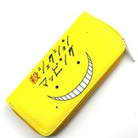 Wholesale multi coins slot online - Assassination Classroom High Quality Leather Wallet Black Butler Card Holder Purse One Piece Cool Gift Money Bag
