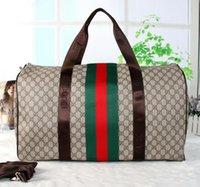 Wholesale Sports Bag Luggage - Hot FASHION Luxury brand men women travel bag PU Leather duffle bag brand designer luggage handbags large capacity sports bag