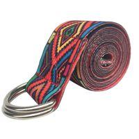 ingrosso cintura di corda di yoga-187 * 3.8 cm Yoga Belt Cotone Gym Rope Pull Stretch Cintura Pilates Body Building Sport Yoga Stretch Strap Accessori fitness