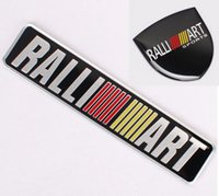 Wholesale car ralliart for sale - Ralliart Car Styling Metal Emblem Car Sticker D Decals Creative Mark Badge Auto Stickers fit for Mitsubishi two size