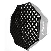 """fotoğrafçılık kelepçe standı toptan satış-Toptan 120 cm / 47 """"120 cm Siyah Şemsiye için tek ızgara yumuşak kutu stüdyo Fotoğraf Sekizgen Softbox Riflettore Flaş Speedlight"""