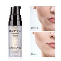 золото поры оптовых-Blur Primer Основа для макияжа 6 мл Face 24k Gold Elixir Oil Control Профессиональный матовый макияж Поры Основа для начинающих