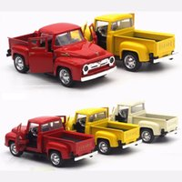 Wholesale ford toy cars for sale - Group buy Ford Pick Up Truck Diecast Metal Car Toys with Sound Light