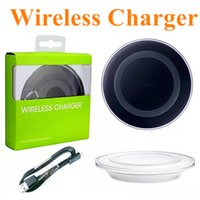 Wholesale mobile charger wireless power bank for sale - Group buy High Quality Universal Qi Wireless Charger For Samsung Note8 Galaxy s7 s8 iphone X mobile pad with retail package usb cable