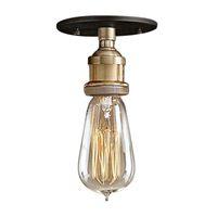 Wholesale pendant metal shade - Modern Vintage Retro Industrial Edison short Metal head Glass Shade Ceiling Pendant Light Fixture With bulb