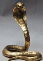 schwarzes kobra tier großhandel-Navidad chino fengshui latón Tier salvaje rey Kobra rey serpente Estatua escultura Halloween