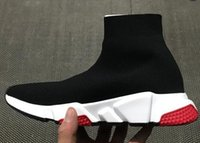 Wholesale lace up flat booties - personality Casual Shoes,Black Speed Knit Sock High-Top Training Sneakers,mens Speed Trainer Sock Race Runners Women's Black Sock Booties