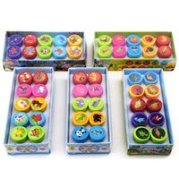 Wholesale Kids Stamp Sets - 10PCS   Set Self-ink Stamps Kids Party Favors Event Supplies Birthday Party Toys for Boy Girl Gift