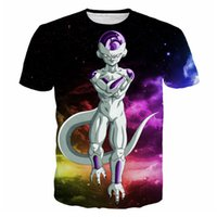 ingrosso magliette galassiche per gli uomini-Colorful Space Galaxy 3D T-shirt stampate Uomo Anime Dragon Ball Z Frieza Graphic Tees Harajuku Style T Shirt Maniche corte Top