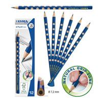 Wholesale led slim box resale online - Lyra groove slim lead child HB wood school triangle pencil BOX Standard Pencils