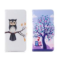 милый подставка для карточек оптовых-Чехол для мобильного телефона серии Cute Owl из искусственной кожи с держателем для бумажников (112 моделей для опции)