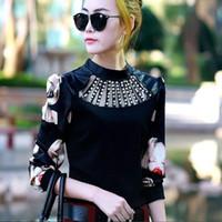 ingrosso blusas xxl-2018 stile estivo Primavera moda donna camicette camicette manica lunga blusas femininas roupas donna top Puff Sleeve plus size M ~ XXL