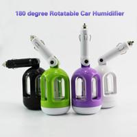 Wholesale Mini Car Air Freshener Purifier - Car Humidifier Air Purifier Mini 180 degree rotation Car Plug Vehicular Diffuser Essential oil ultrasonic Spray Moisture Air freshener DHL